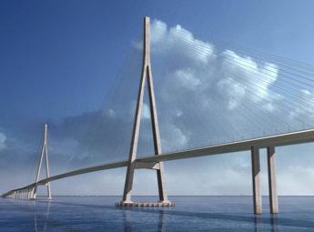 蘇通長江公路大橋 世界有数の斜張橋の写真画像